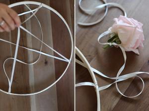 Bloemenkandelaar bloemen aan lint