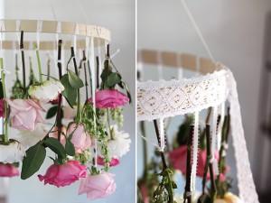 hangende bloemenkandelaar