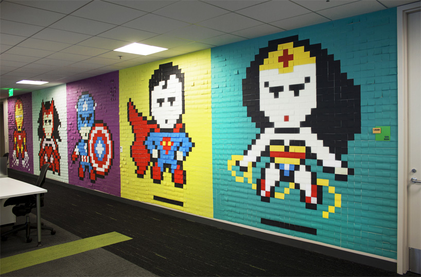 8024-post-its-office-8-bit-superhero-art-designboom-02