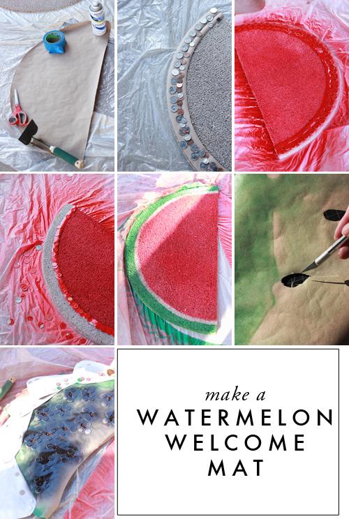 make-a-watermelon-welcome-mat