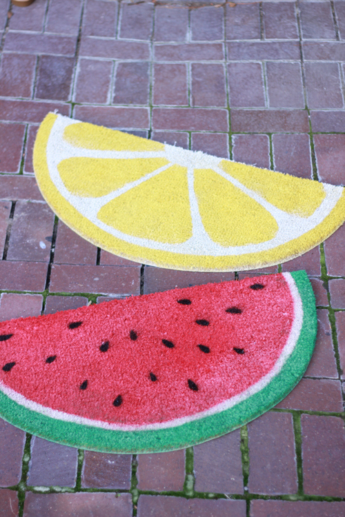 watermelon-and-lemon-welcome-mats