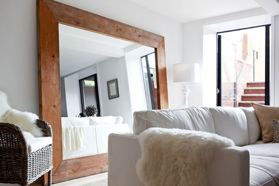 Oversized-Floor-Mirror-with-Wooden-Frame