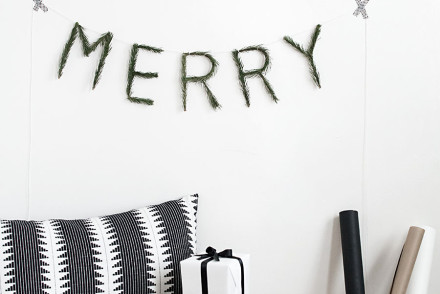 DIY merry letters