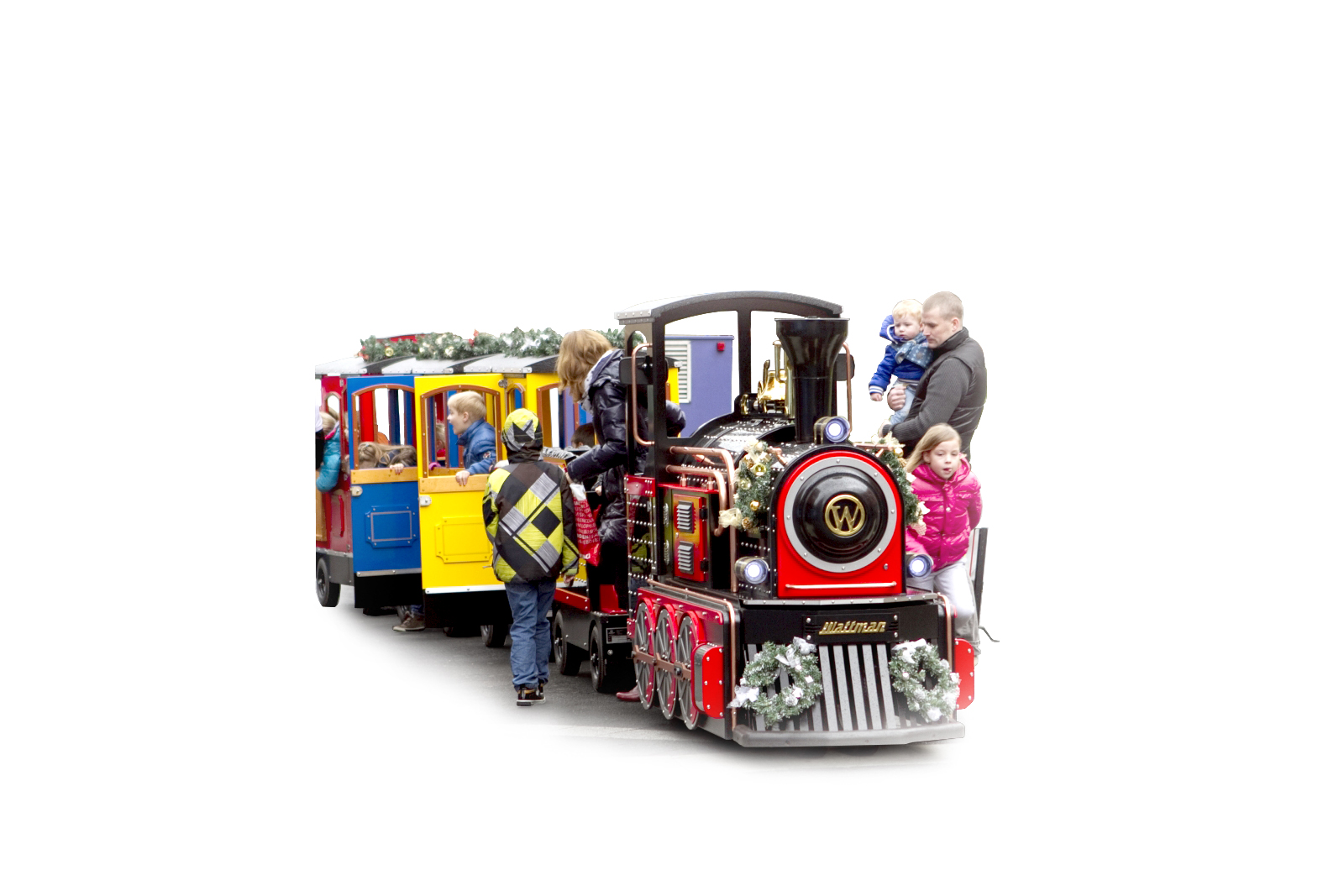 kids in-uit treintje