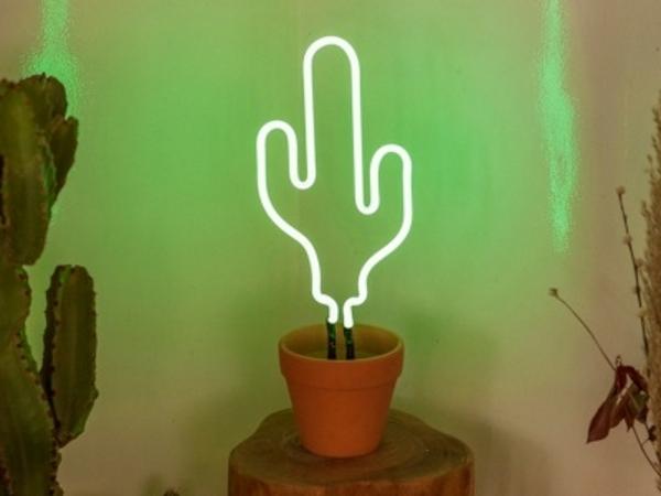Een Neon Randje : Catch of the day neon cactus lamp meubeltrack inspiratie