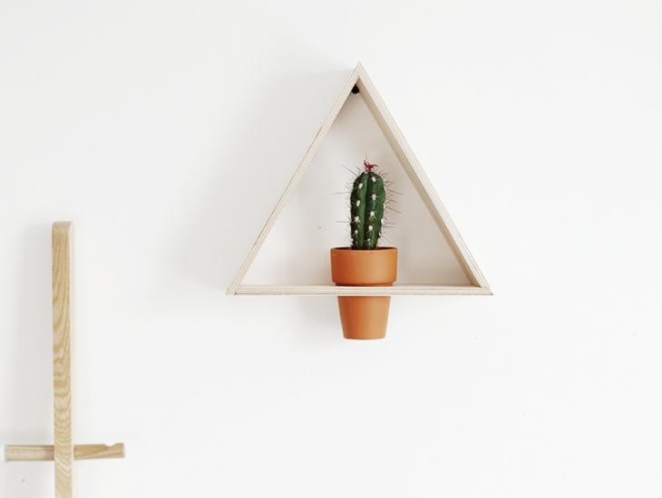 Diy Planken Inrichten : Diy driehoek plantenhouder voor aan de muur meubeltrack inspiratie