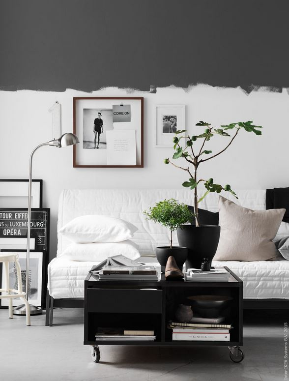 IKEA grijze muur