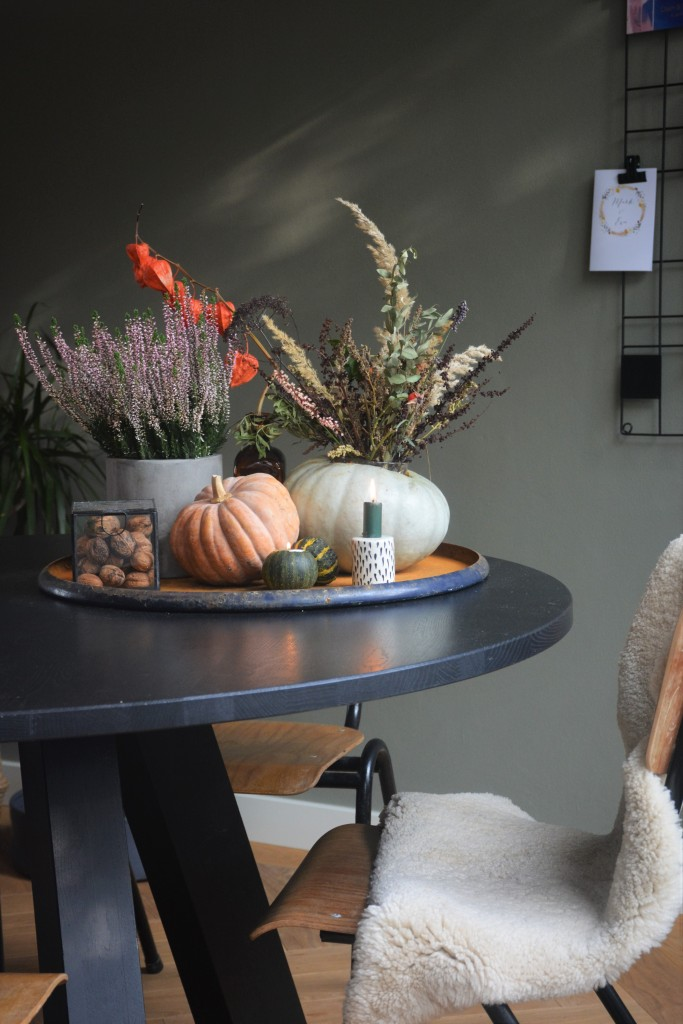 herfstsetting op tafel