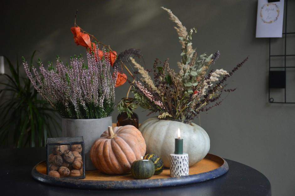 DIY pompoenvaas herfststyling