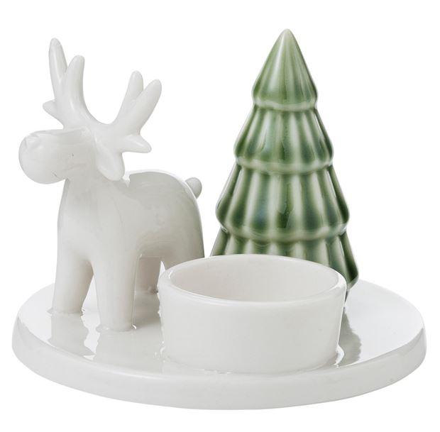 floresta-theelichthouder-wit,-groen-h-8,7-cm