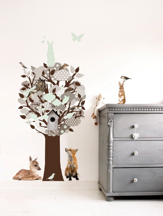 KEK Amsterdam - Glow in the dark 1 - wallsticker_gitd_tree_grey_int