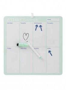 Whiteboard weekplanner HEMA