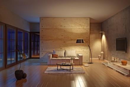 Afbeelding woonkamer hout