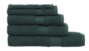 1 - HEMA Handdoeken zware kwaliteit donkergroen