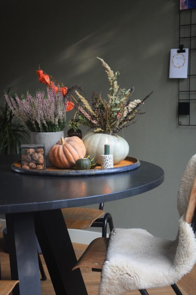 Huizemus - diy herfst pompenen vaasjes